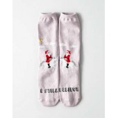 AEO Unicorn Santa Crew Sock