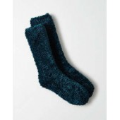 AEO Fluffy Metallic Crew Sock