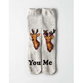 AEO You Vs Me Crew Sock