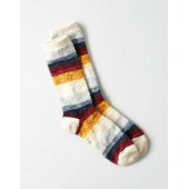 AEO Multi Striped Crew Sock