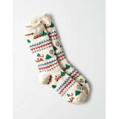 AEO Gingerbread House Crew Sock