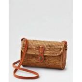 AEO Woven Straw Shoulder Bag