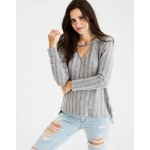 AEO Soft & Sexy Plush Pointelle Sweater