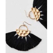 AEO Semi Circle Fabric Tassel Earring