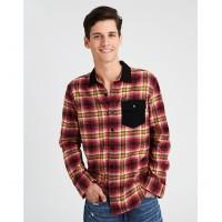 AE Flannel Button-Down Shirt