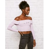 Don't Ask Why Off the Shoulder Cropped Sweater