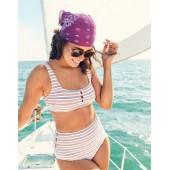 Aerie Pique Wide Strap Scoop Bikini Top