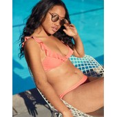 Aerie Ruffle Scoop Bikini Top