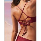 Aerie Cross-Strap Scoop Bikini Top