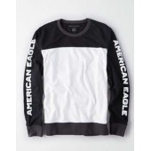 AE Color Block Long Sleeve Graphic Tee