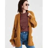 AE Slouchy Waffle Cardigan Sweater