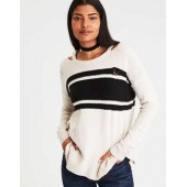 AE Destroyed Cutout-Collar Sweater