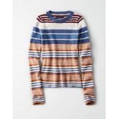 AE Ribbed Crew Neck Bodycon Pullover Sweater