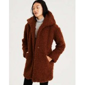 AE Faux Sherpa Cocoon Coat