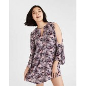 AE Floral Bell Sleeve Shift Dress