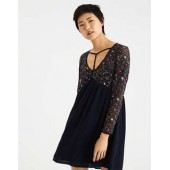 AE Embroidered Mesh Empire Dress