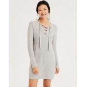 AE Lace-Up Sweater Dress
