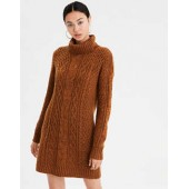 AE Turtleneck Cable Knit Sweater Dress