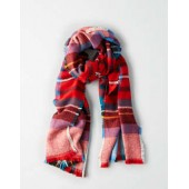 AEO Lightweight Colorful Plaid Blanket Scarf