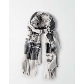 AEO Two Color Plaid Scarf