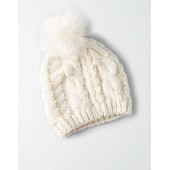 AEO Bobble Cable Beanie