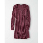 Don't Ask Why Ribbed Button Front Dress