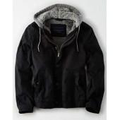 AE Canvas Fleece Hood Jacket