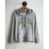 Tailgate Women's Milwaukee Bucks Plush Hoodie