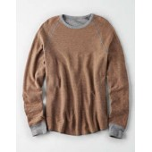 AE Long Sleeve Striped Thermal T-Shirt