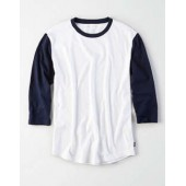 AE 3/4 Sleeve Colorblock T-Shirt