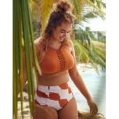 Aerie Macrame High Neck Bikini Top