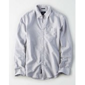AEO Solid Classic Oxford Shirt