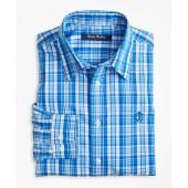 Non-Iron Bright Plaid Sport Shirt