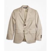 Two-Button Cotton Poplin Prep Jacket