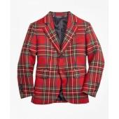 Two-Button Tartan Jacket