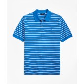 Short-Sleeve Thin Stripe Pique Polo