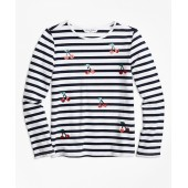 Cotton Cherry Stripe Knit