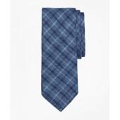 Multi-Windowpane Linen Tie