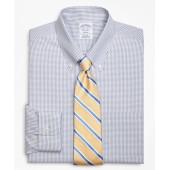 Regent Fitted Dress Shirt, Non-Iron Double-Mini Windowpane