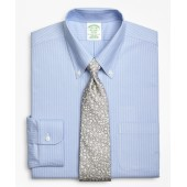 BrooksCool Milano Slim-Fit Dress Shirt, Non-Iron Ground Double-Stripe