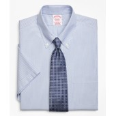 Madison Classic-Fit Dress Shirt, Non-Iron Tonal Framed Stripe Short-Sleeve