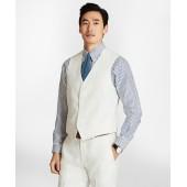 Five-Button Linen Vest