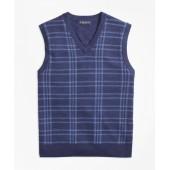 Merino Wool Plaid Vest