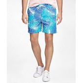 Montauk 6 Palm Print Swim Trunks