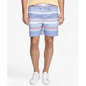 Montauk 6 Awning Stripe Swim Trunks