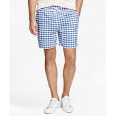 Montauk 6 Gingham Swim Trunks