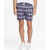 Montauk 6 Madras Swim Trunks