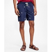 Montauk 6 Buoy Motif Swim Trunks
