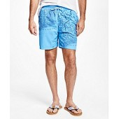 Montauk 6 Map Print Swim Trunks
