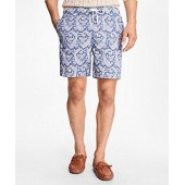 Montauk 6 Paisley Print Swim Trunks